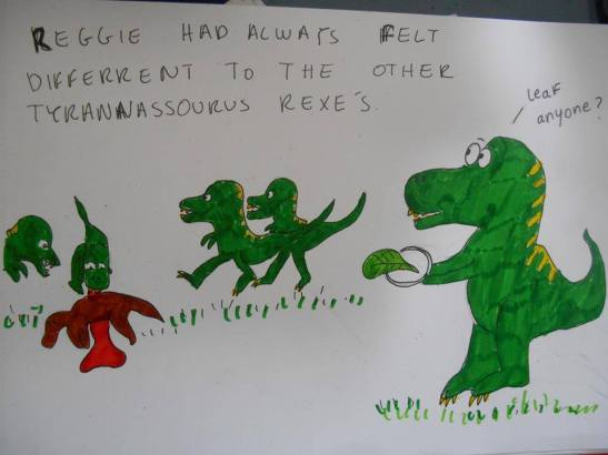 """Reggie"" drawn by Orla Price www.sillical.blogspot.com."